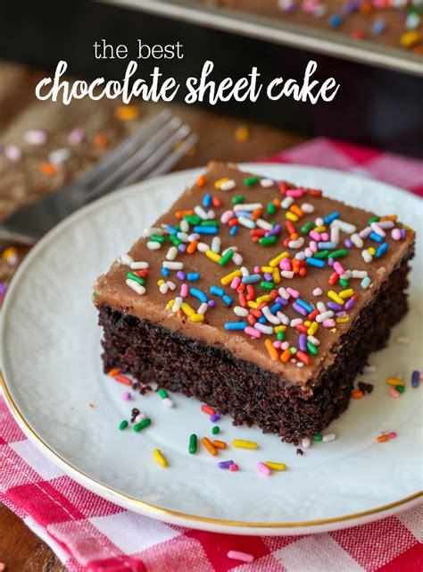the chocolate sheet cake lil