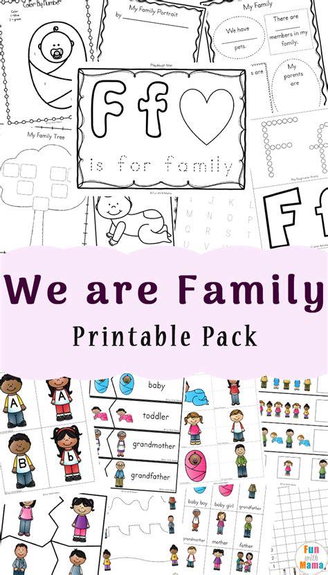 family theme preschool  family worksheets