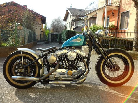 Hd Bobber Motorcycle Background