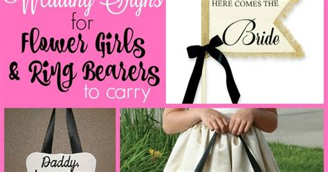wedding signs for flower ring bearers to carry a a budget
