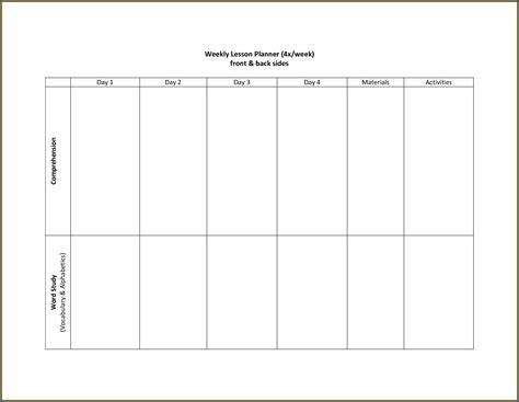 printable  week blank calendar template