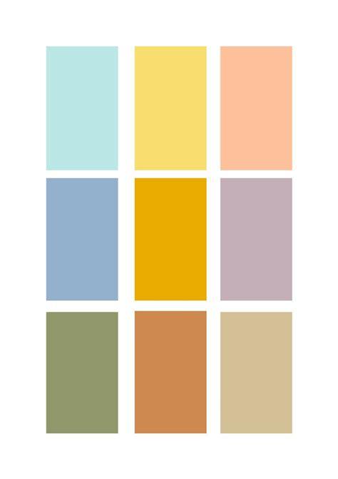 retro  interior design sampleboard blog