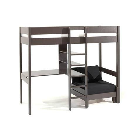 lit mezzanine bureau lits chambre literie lit mezzanine avec fauteuil pino