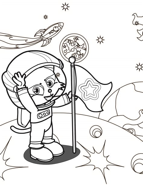 Astronaut Coloring Page Page 2 Pics About Space