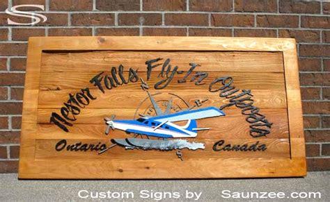 saunzee signs sandblast wood sign