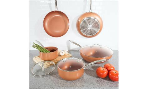 pc cookware set  layer cer groupon goods