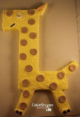 giraffe cut  cake pattern