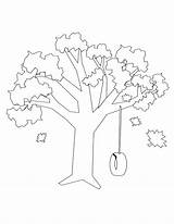 Swing Tree Drawing Coloring Pages Template Getdrawings sketch template