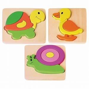 Puzzle En Bois Bébé : puzzle en bois animaux encastrer canard escargot tortue boisnature 39 l ~ Dode.kayakingforconservation.com Idées de Décoration