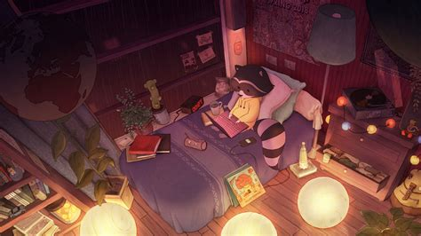 wallpaper lofi chill out bed room wallpaper for you hd