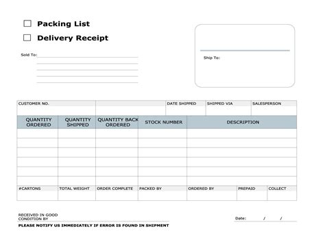 delivery receipt template delivery receipt template excel calendar template excel