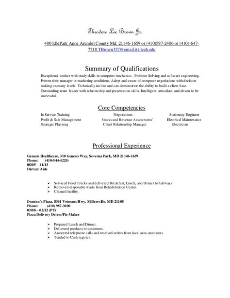 The Chronological Resume Lists The Following by Chronological Resume For Software Engineering