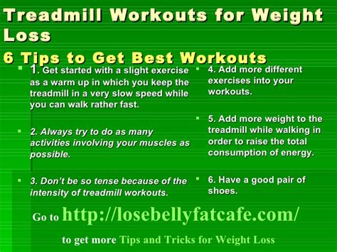 Treadmill Workouts For Weight Loss 6 Tips To Get Best Workouts