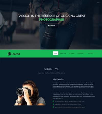 Photography Website Templates Iclick Photography Website Template Webthemez
