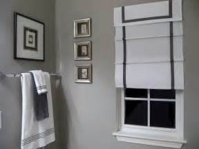black white grey bathroom ideas southgate residential diy ribbon edged shades