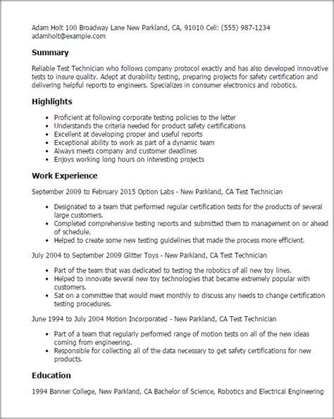 apartment maintenance technician resume template