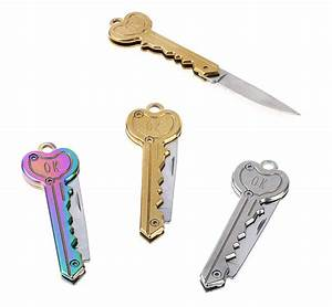 mini key knife letter camp outdoor keyring ring keychain With letter folding tool