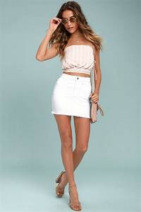 Fashionable White Denim Skirt Outfits Ideas 9 Fashion Best