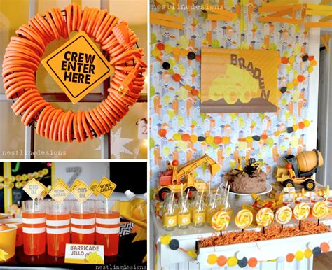 construction truck themed 1st birthday party planning ideas truck party kara 39 s party ideas