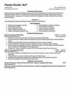 Therapy Resumes Samples Best Speech Language Pathologist Resume Example Livecareer