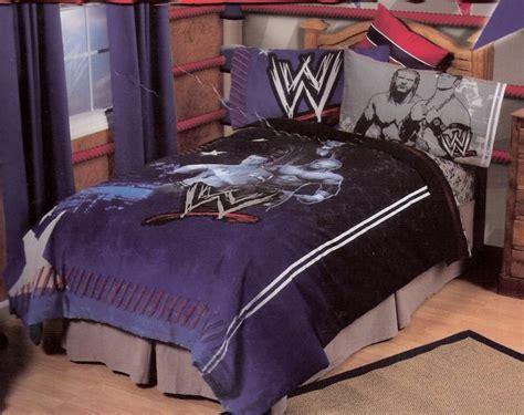 wwe wrestling twin comforter sheet set bedding