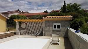 Pool House Toit Plat : charpente pool house pergola tuile menuiserie fagot ~ Melissatoandfro.com Idées de Décoration