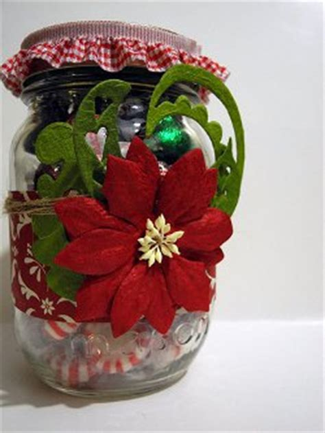 gorgeous poinsettia christmas jar allfreechristmascrafts com