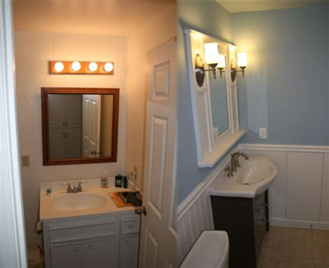 Small Bathroom Remodels Before And After by Remodel Dinosaur Woodworking