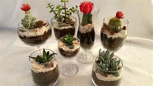 Wine Glass Succulent Garden - A Single Girl's Guide To