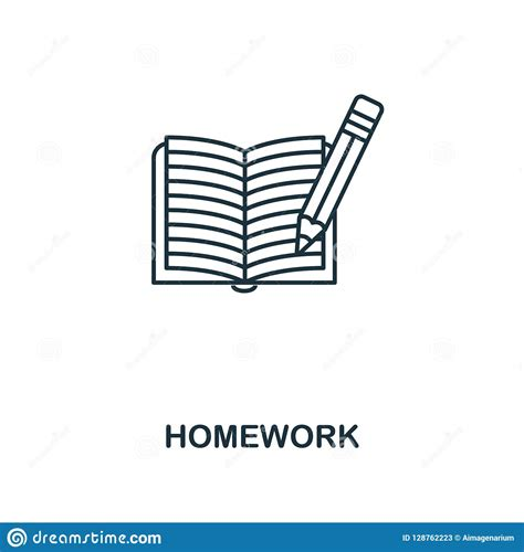 homework outline icon creative design  school icon