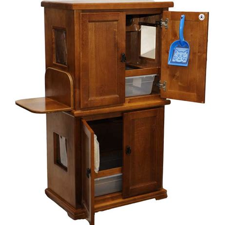 litter box cabinet two pan litter box cabinets by hidy tidy the best