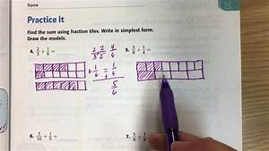 Adding Unlike Fractions  Bar Model And Algorithm On
