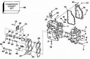 Johnson Cylinder  U0026 Crankcase Parts For 2000 50hp J50plssm