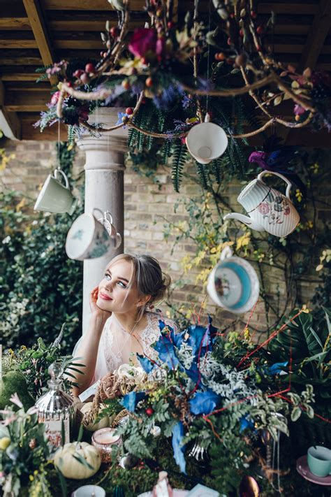 alice  wonderland wedding modern fairytale wedding