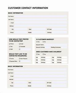 Sample customer profile 8 examples in pdf for Sales customer profile template