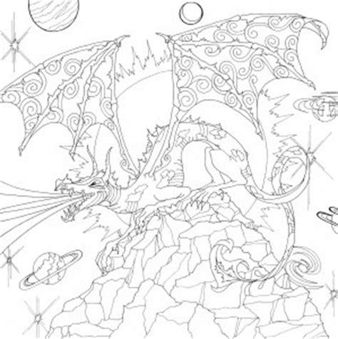 peter pauper press intricate dragon artists coloring book