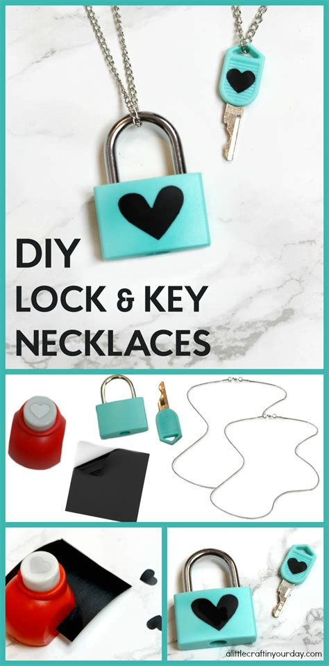 diy lock key necklaces   craft   daya