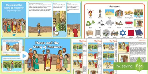 new moses and the story of passover resource pack 775 | t re 529 moses and the story of passover resource pack english ver 1