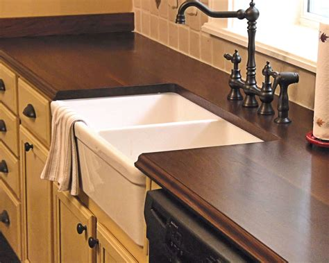kitchen counter with sink sink cutouts in custom wood countertops 4302