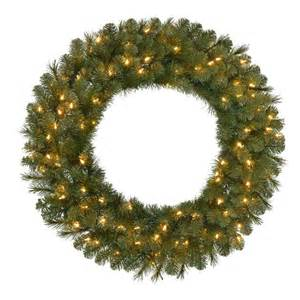 36 in pre lit led wesley pine artificial christmas wreath x 250 tips with 100 ul indoor outdoor