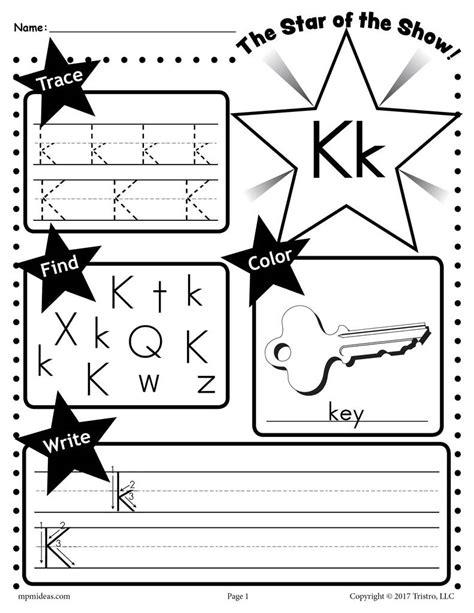 letter k worksheets free letter k worksheet tracing coloring writing more 9509