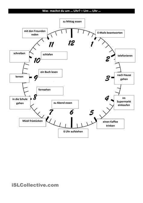 tagesablauf und uhrzeit deutsch lernen uhrzeiten