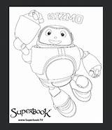 Superbook Colouring Competition Gizmo Dvd sketch template