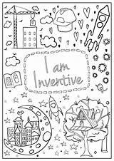 Coloring Mantra Brave Am Pages Hopscotch Confidence Imagination Spirit Designed Every Build sketch template