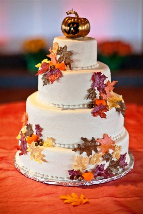 24 Great Ideas For Fall Wedding Cake Decoration Style