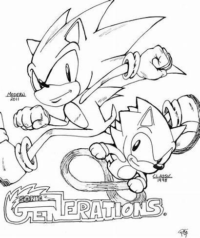 Sonic Coloriage Coloring Generations Dibujos Dessin Colorear
