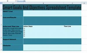 delighted smart objectives template images example With goals and objectives template excel