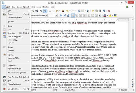libreoffice writer review softpedia