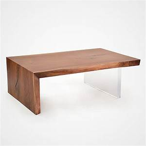 solid walnut and acrylic base coffee table rotsen furniture With acrylic coffee table base