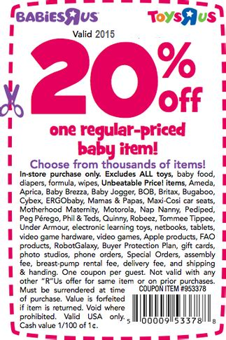 19247 Free Printable Toys R Us Coupons by Babies R Us Coupons August 2018 Sodexho Coupons